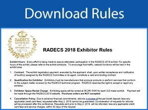 Download RADECS 2018 Exhibitor Rules